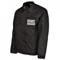 Blouson Agent de Sécurité Noire Homme - Vêtement Sécurité Privé Quaerius