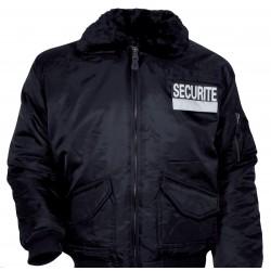 Blouson Agent de Sécurité CWU Noir - Vêtement Sécurité Privé Quaerius
