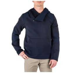 Le sweat Bravo Hoodie de 5.11 Tactical est un sweat-shirt au look simple, comportant une poche horizontale et une capuche.