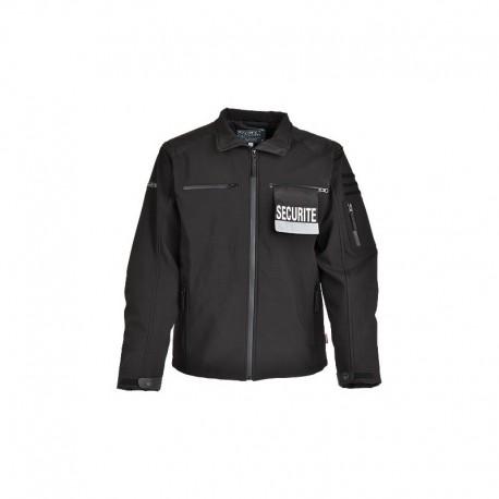 Blouson Softshell Agent Sécurité Privé Cityguard- Vêtements agent sécurité privé Cityguard Quaerius