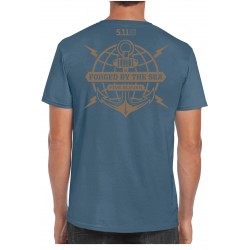 "T-Shirt Ancre ""Forged by the Sea"" (Précommande) 5.11 Tactical - Equipement militaire t-shirt humoristique Quaerius"