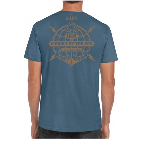 "T-Shirt Ancre ""Forged by the Sea"" (Précommande) 5.11 Tactical - Equipement militaire t-shirt humoristique Quaerius"