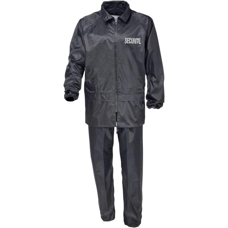 tenue de pluie s curit noire cityguard tenues de pluie sur v tements militaire. Black Bedroom Furniture Sets. Home Design Ideas