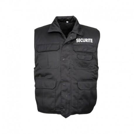 Gilet Sécurité Rangers Noir Cityguard - Vêtement Agent de Sécurité Cityguard Quaerius