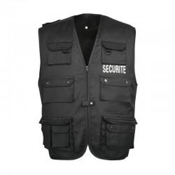 Gilet Reporter Securite Noir Cityguard - Vêtement Agent de Sécurité Cityguard Quaerius