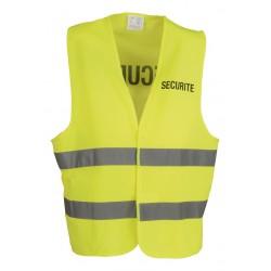 Gilet Sécurité jaune à bandes réfléchissantes