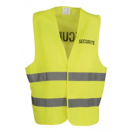Chasuble Securité Jaune à Bandes Réfléchissantes Cityguard - Vêtement Agent de Sécurité Cityguard Quaerius