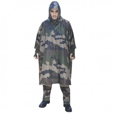 Poncho US Camouflage CE Ripstop Dca France - Tenue militaire poncho armée de terre camouflage Quaerius