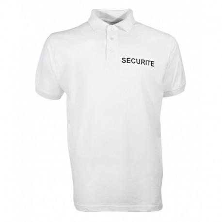 Polo Securité Blanc Cityguard - Vêtement Agent de Sécurité Cityguard Quaerius