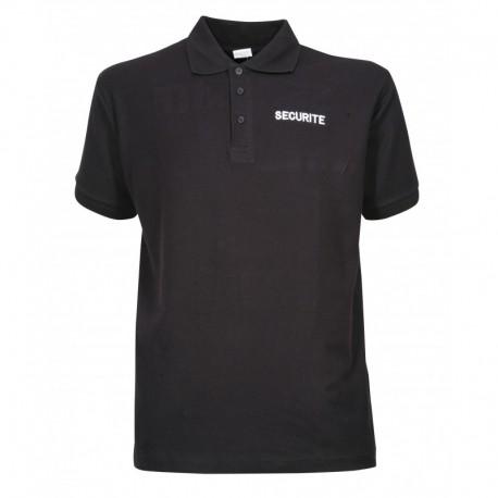 Polo Securité Noir Cityguard - Vêtement Agent de Sécurité Cityguard Quaerius