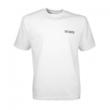 Tee Shirt Sécurité Blanc Cityguard - Vêtement Agent de Sécurité Cityguard Quaerius