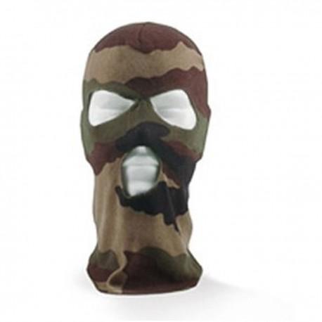 Cagoule Polaire 3 Trous Camouflage CE DCA France - Tenue militaire cagoule camouflage tactique Quaerius