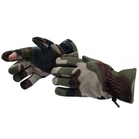 Gants Polaires Camouflage - DCA France - tenue militaire gants armée Quaerius