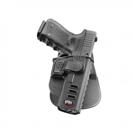 Holster Rigide pour Glock à Rétention Active - equipement police rangement armes Quaerius
