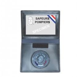 Porte-Cartes 2 Volets Unique Emplacement Médaille - Accessoires Equipements Porte-Feuilles Pompiers Quaerius