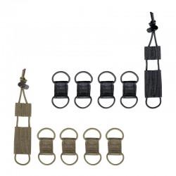 Lot de 4 Passe-Cables pour radio et 1 Porte Garrot