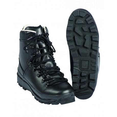 Chaussures de Chasseur Alpin BW Noires - Chaussures Marche Cuir Quaerius