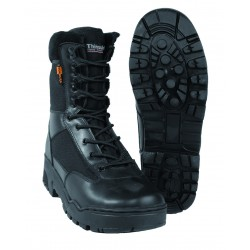 Bottes Tactical en Cuir et Cordura - Chaussures Militaires Noires Quaerius