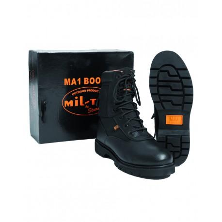 Bottes MA1 Noires - Chaussures Gendarme Militaire Cuir Quaerius