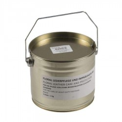 Cirage Imperméable pour Cuir 1kg - Pot de Cire Noire Quaerius