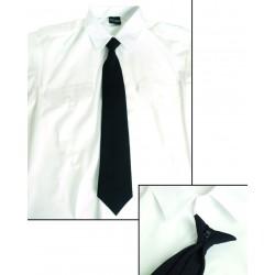 Cravate Sécurité Noire à Pince - Cravate pour Costume à Pince Quaerius